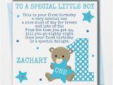 Son First Birthday Card Personalised Boys Birthday Card son Grandson Nephew Godson