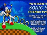 Sonic Birthday Invitation Templates sonic the Hedgehog Birthday Invitations Dolanpedia