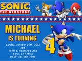 Sonic Birthday Invitation Templates sonic the Hedgehog Birthday Invitations Dolanpedia