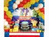 Sonic Birthday Party Decorations sonic Party for Adrian Birthdays Pinterest sonic