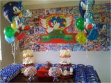 Sonic Birthday Party Decorations sonic the Hedgehog Birthday Party Ideas Photo 8 Of 13