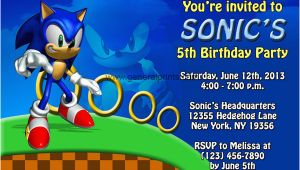 Sonic Birthday Party Invitations sonic the Hedgehog Birthday Invitations Dolanpedia