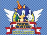 Sonic the Hedgehog Birthday Invitations 40 Best sonic Party Images On Pinterest sonic Party