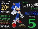 Sonic the Hedgehog Birthday Invitations Custom sonic the Hedgehog Birthday Invitation Print at Home