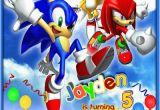 Sonic the Hedgehog Birthday Invitations sonic Invitation sonic the Hedgehog Birthday Invitation