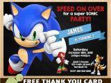 Sonic the Hedgehog Birthday Invitations sonic Invitation sonic the Hedgehog Invites Sega sonic