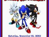 Sonic the Hedgehog Birthday Invitations sonic the Hedgehog Personalized Birthday by