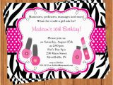 Spa Birthday Party Invitations for Kids 7 Best Images Of Spa Party Invitations Printable and
