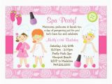 Spa Birthday Party Invitations for Kids Kids Spa Birthday Party Invitation Zazzle