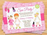 Spa Birthday Party Invitations for Kids Little Girls Spa Birthday Party Ideas Spa Party Kids