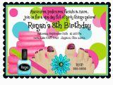 Spa Birthday Party Invitations for Kids Spa Birthday Party Invitations Spa Party Spa