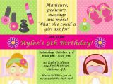 Spa Birthday Party Invitations for Kids Spa Party Invitations are Easy to Make You Can Start