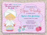Spa Birthday Party Invitations for Kids Spa Party Invitations for Girls Pool Design Ideas