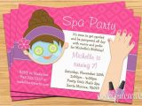 Spa Birthday Party Invitations for Kids Spa Party Kids Birthday Invitation Mani Pedi