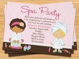 Spa Birthday Party Invitations for Kids Spa Party Kids Birthday Invitation