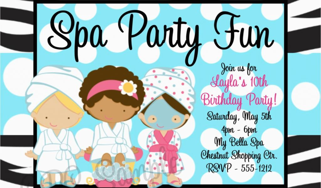 Download By SizeHandphone Tablet Desktop Original Size Back To Spa Birthday Party Invitations Printables Free
