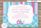 Spa Birthday Party Invitations Printables Free Spa Birthday Party Invitations Decorations