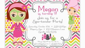 Spa Birthday Party Invites Spa Party Invitations Party Invitations Templates