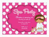 Spa Day Birthday Invitations Cute Spa Day Birthday Party Invitation Zazzle