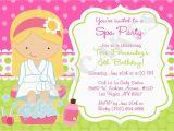 Spa Day Birthday Invitations Spa Birthday Party Invitations Party Invitations Templates