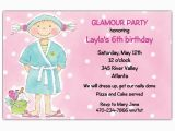 Spa Day Birthday Invitations Spa Day Birthday Party Invitations Paperstyle