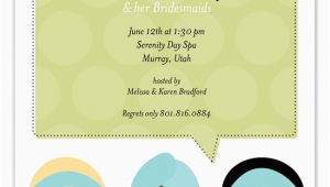 Spa Day Birthday Invitations Spa Day Invitation Polka Dot Invitations