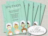 Spa Day Birthday Invitations Spa Party Invitation Pedicure Pamper Manicure Spa Day