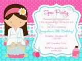Spa Day Birthday Invitations Spa Party Invitation Spa Birthday Party Spa Invitation