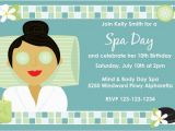 Spa Day Birthday Party Invitations Spa Day Birthday Invitation Choose A Skin tone Hair