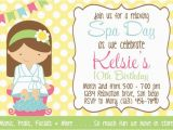 Spa Day Birthday Party Invitations Spa Day Invitation Girl Birthday Party Printable