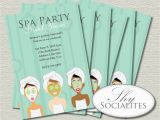 Spa Day Birthday Party Invitations Spa Party Invitation Pedicure Pamper Manicure Spa Day