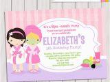 Spa themed Birthday Party Invitations Printable 20 Spa Party Invitations Psd Vector Eps Jpg Download
