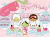 Spa themed Birthday Party Invitations Printable Customized Printable Spa Slumber Party Birthday Invitation