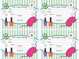 Spa themed Birthday Party Invitations Printable Free Printable Spa Birthday Party Invitations