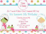 Spa themed Birthday Party Invitations Printable Free Printable Spa Birthday Party Invitations Pool