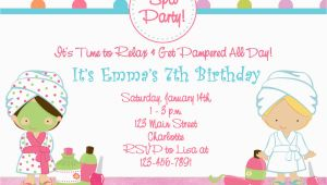 Spa themed Birthday Party Invitations Printable Free Printable Spa Birthday Party Invitations Pool