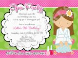 Spa themed Birthday Party Invitations Printable Spa Party Birthday Invitation Diy Print Your Own by