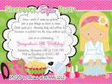Spa themed Birthday Party Invitations Printable Spa Party Invitations Designs Egreeting Ecards