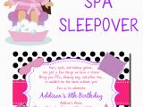 Spa themed Birthday Party Invitations Printable Spa themed Birthday Party Invitations Printable Best