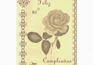 Spanish Birthday Cards for Mom Spanish 80 Cumples Mama Mom 39 S 80th Birthday Card Zazzle