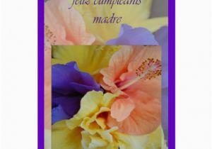 Spanish Birthday Cards for Mom Spanish Birthday Card for Mom Zazzle