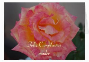 Spanish Birthday Cards for Mom Spanish Birthday Card for Mother Zazzle
