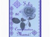 Spanish Birthday Cards for Mom Spanish Rosa Azul Mom 39 Birthday Cards Zazzle
