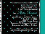 Spanish Birthday Invitation Verses C 77 Teal Blue Pink White Custom Personalized Wedding