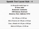 Spanish Birthday Invitation Verses Sample Birthday Invitation In Spanish