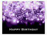Sparkling Birthday Greeting Cards Birthday Sparkling Lights Purple Greeting Card Zazzle