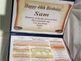 Special 40th Birthday Gifts for Him Happy 40th Birthday Gift the Year You Were Born