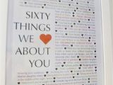 Special 60th Birthday Presents for Him 60 Things We Love About You Craft Ideas 60th