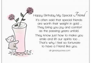 Special Friend Birthday Card Verses Free Cards For Friends On Facebook Cute Bear