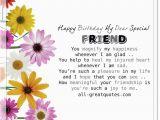 Special Friend Birthday Card Verses Happy Birthday My Dear Special Friend